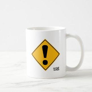 ¡Señal de tráfico del signo de exclamación! Taza De Café