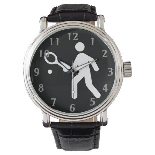 Señal de tráfico del tenis reloj