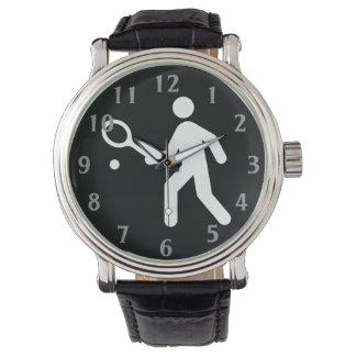 Señal de tráfico del tenis relojes