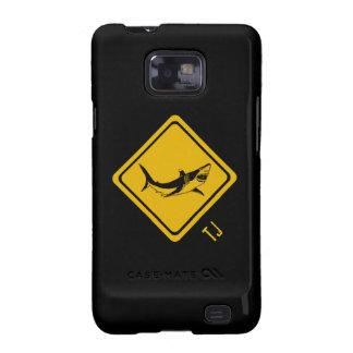 señal de tráfico del tiburón samsung galaxy SII carcasa