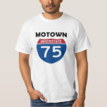 Señal de tráfico Detroit Michigan de Motown I-75 Remera