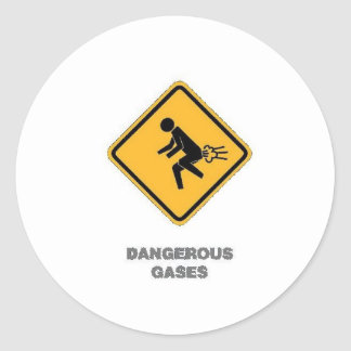 señal de tráfico divertida etiquetas redondas