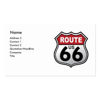 Señal de tráfico histórica de la carretera tarjetas de visita