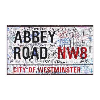 Señal de tráfico Londres de la abadía cubierto en  Impresiones En Lona