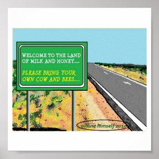 Señal de tráfico póster