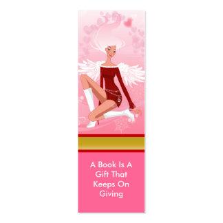 Señal del ángel del navidad tarjeta de negocio