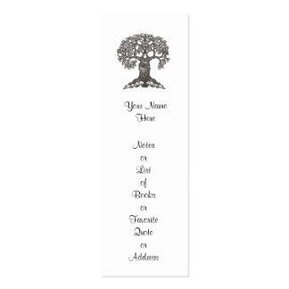 Señal del árbol de la lectura mini a modificar par plantillas de tarjetas personales