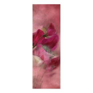 Señal del arte de los guisantes de olor tarjetas de visita mini