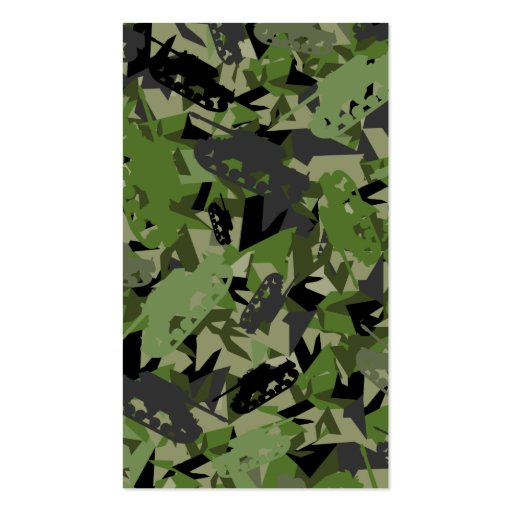 Señal del camuflaje del ejército del tanque tarjeta de visita