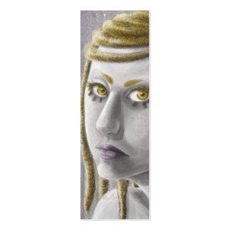 Señal del chica de la ciencia ficción tarjetas de visita mini