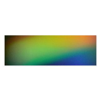 Señal del cometa del arco iris tarjetas de visita