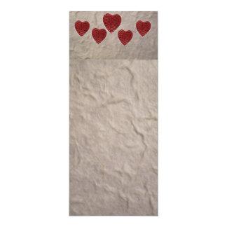"""Señal del corazón del amor invitación 4"""" x 9.25"""""""