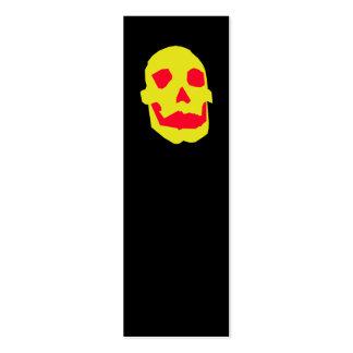 Señal del cráneo de Halloween Tarjetas De Visita Mini