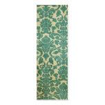 Señal del damasco del vintage del verde azul plantillas de tarjeta de negocio