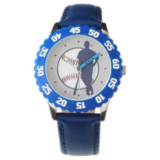 Señal del diamante del jugador de béisbol relojes