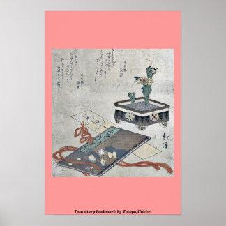 Señal del diario de Tosa por Totoya, Hokkei Impresiones