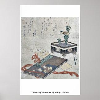 Señal del diario de Tosa por Totoya, Hokkei Posters