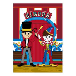 Señal del director de pista de circo y del payaso