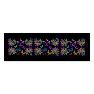 Señal del diseño de la mariposa tarjetas de visita mini