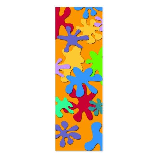 Señal del diseño del chapoteo plantilla de tarjeta personal