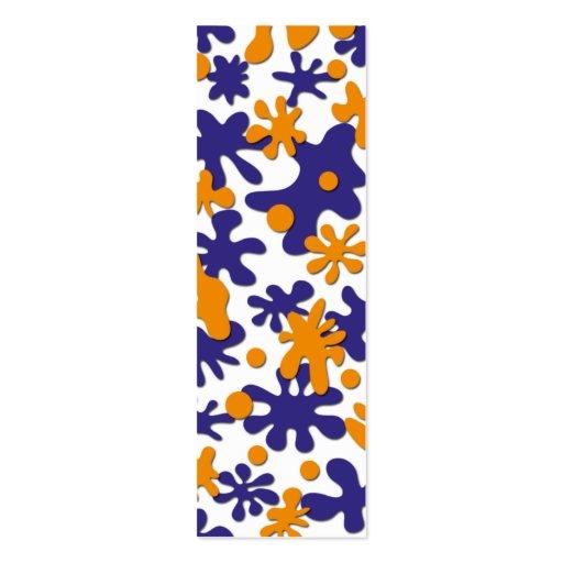 Señal del diseño del chapoteo plantillas de tarjetas de visita