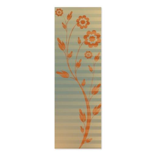 Señal del diseño floral plantilla de tarjeta de negocio