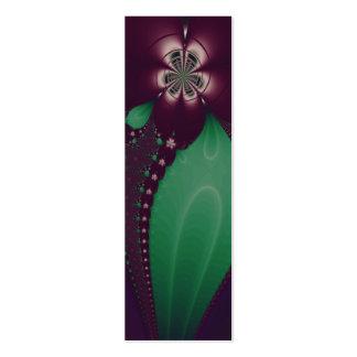 Señal del flor del cactus tarjeta de visita
