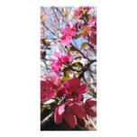 Señal del flor diseño de tarjeta publicitaria