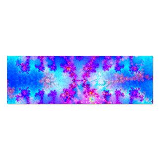 Señal del fractal de la acuarela tarjetas de visita mini