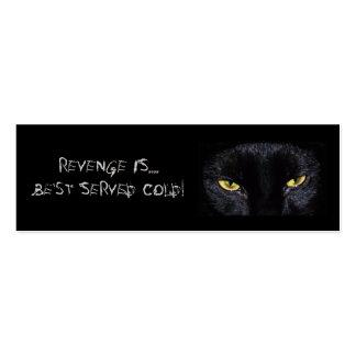 Señal del gato negro plantillas de tarjetas de visita