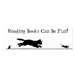 Señal del gato negro y del ratón tarjetas de visita