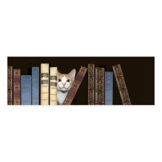 Señal del gato y de los libros plantilla de tarjeta personal