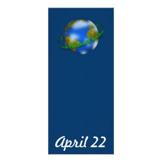 Señal del globo del Día de la Tierra Tarjetas Publicitarias A Todo Color