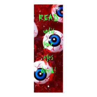 Señal del globo del ojo tarjetas de visita mini
