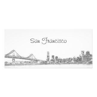 Señal del horizonte de San Francisco Tarjetas Publicitarias Personalizadas