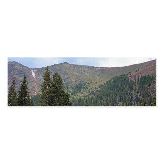 Señal del Mountain View Tarjetas De Visita Mini