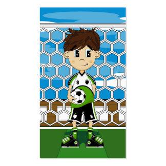 Señal del muchacho del fútbol tarjeta personal