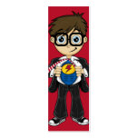 Señal del muchacho del super héroe plantillas de tarjetas personales