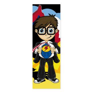 Señal del muchacho del super héroe tarjetas de visita mini