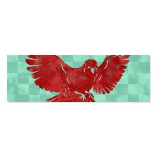 Señal del pájaro de vuelo tarjetas de visita mini