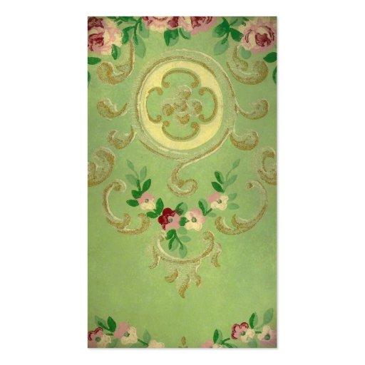 Señal del papel pintado del vintage tarjetas de negocios