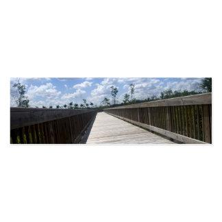 Señal del paseo del tablero de la naturaleza tarjetas de visita mini