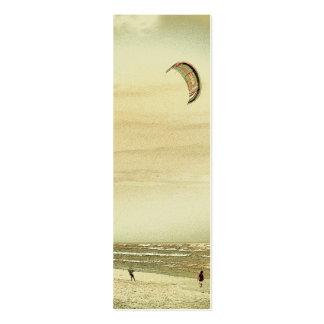 Señal del personalizado de la escena de la playa tarjetas de visita mini