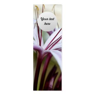Señal del personalizado del lirio tarjetas de visita mini
