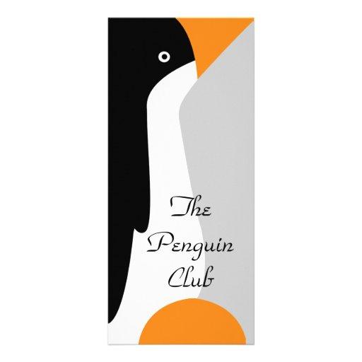 Señal del pingüino de emperador y márketing plantillas de lonas