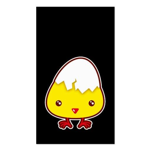 Señal del polluelo de Kawaii Tarjetas De Visita