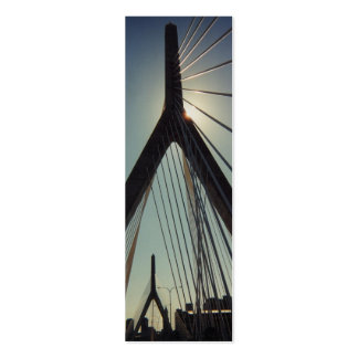 Señal del puente de Leonard P. Zakim Memorial Tarjetas De Visita Mini