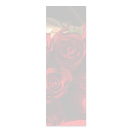 """Señal del ramo del rosa rojo"" - Tarjeta De Visita"