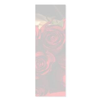 """Señal del ramo del rosa rojo"" - Tarjetas De Visita Mini"
