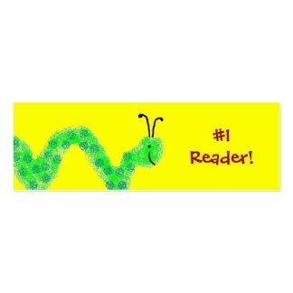 Señal del ratón de biblioteca del lector #1 tarjetas de visita mini